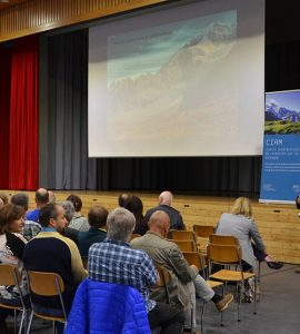 A conference on permafrost-related risks in mountains organized by CIRM. Photo by Emmanuel Reynard