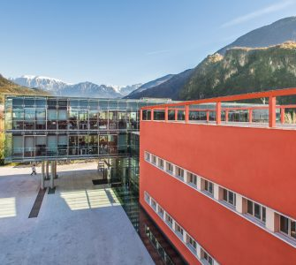 The building of Eurac Research in Bolzano, Italy. Photo courtesy of Eurac Research