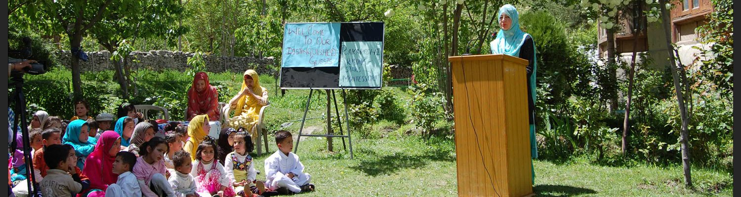 Inauguration of a preschool headed by a female teacher in Nagar District, northern Pakistan. Photo by Katja Voigt