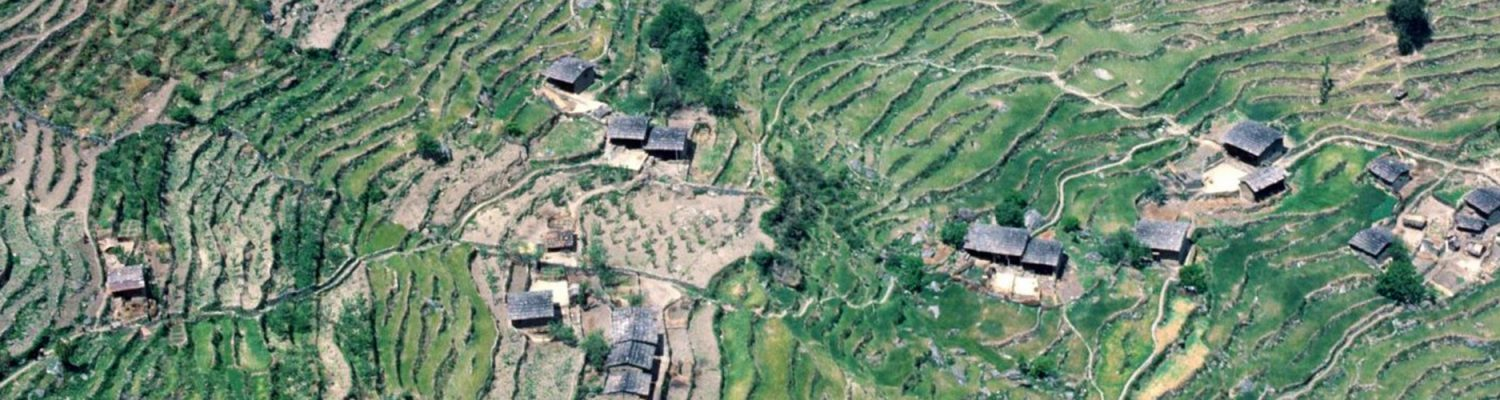 A typical village in Nepal's middle hills. Photo by Gerald Shively